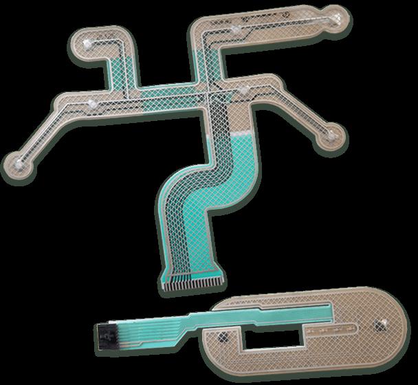 Two custom shape membrane switch designs