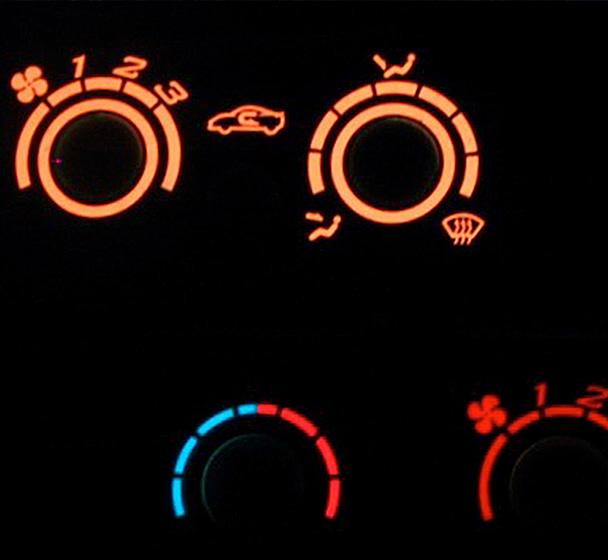 Automotive EL backlit instrument panel