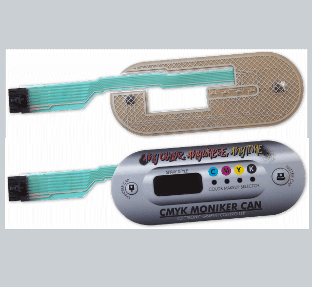 Oval shaped membrane switch